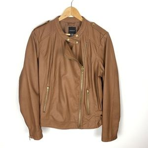 Lane Bryant Size 18 20 Womens Faux Leather Brown
